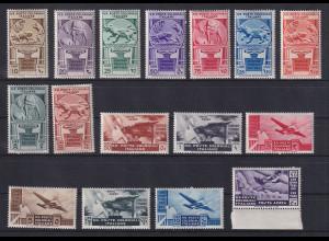 Italienische Kolonien 1933 50 Jahre Kolonie Eritrea Mi.-Nr. 37-52 Satz kpl. *
