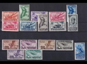 Italienische Kolonien 1933 10 Jahre Marsch auf Rom Mi.-Nr. 53-70 (ohne 69) *