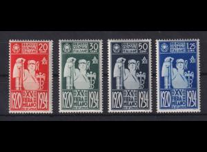 Italienische Kolonien 1934 Mailänder Messe Mi.-Nr. 71-74 Satz kpl. *