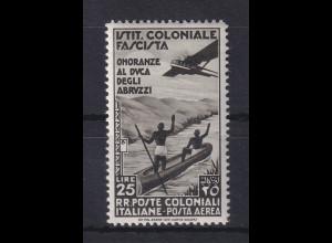 Italienische Kolonien 1934 Flugpostmarke Ludwig Amadeus Mi.-Nr. 75 ungebraucht *