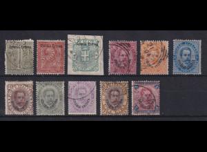 Italienisch-Eritrea 1893 Freimarken Ziffern und König Umberto Mi.-Nr. 1-11