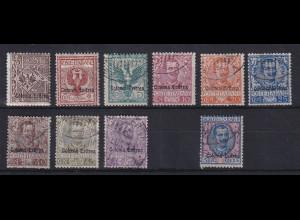 Italienisch-Eritrea 1903 Freimarken Adler / Emanuel III. Mi.-Nr. 19-29 * / O