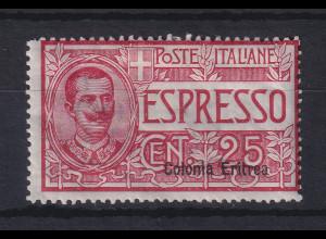 Italienisch-Eritrea 1905 Eilmarke 25 C. Mi.-Nr. 31 ungebr.*