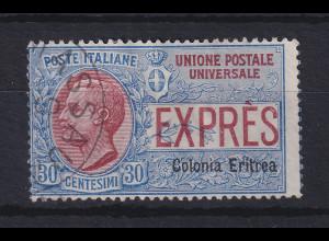 Italienisch-Eritrea 1905 Eilmarke 30 C. Mi.-Nr. 32 gestempelt.