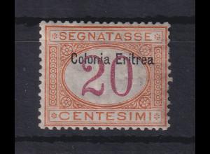 Italienisch-Eritrea 1903 Portomarke Aufdruck oben 20 C. Mi.-Nr. 3 I ungebr. *