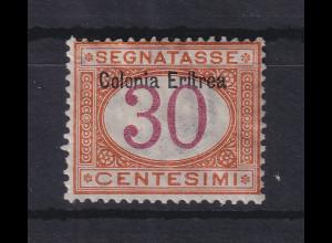Italienisch-Eritrea 1903 Portomarke Aufdruck oben 30 C. Mi.-Nr. 4 I ungebr. *