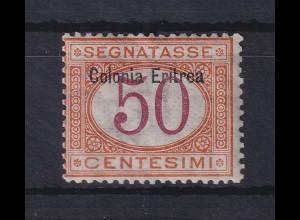Italienisch-Eritrea 1903 Portomarke Aufdruck oben 50 C. Mi.-Nr. 6 I ungebr. *