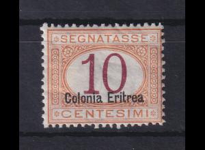 Italienisch-Eritrea 1903 Portomarke Aufdruck unten 10 C. Mi.-Nr. 2 II ungebr. *