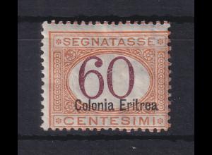 Italienisch-Eritrea 1903 Portomarke Aufdruck unten 60 C. Mi.-Nr. 7 II ungebr. *