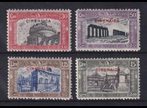Italienisch-Cyrenaica 1929 Nationalmiliz, Bauten in Rom Mi.-Nr. 48-51 Satz kpl *