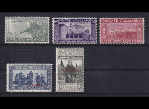 Italienisch-Cyrenaica 1926 hl. Franz von Assisi Mi.-Nr. 26-30 Satz kpl *
