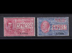Italienisch-Libyen 1915 Eilmarken Mi.-Nr. 21-22 Satz 2 Werte ungebraucht *