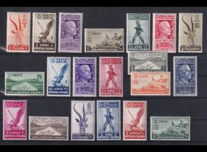 Italienisch-Ostafrika 1938 Landesmotive Mi.-Nr. 1-20 Satz kpl. ungebraucht *