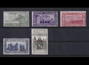 Italienisch-Tripolitanien 1926 Franz von Assisi Mi.-Nr. 40-44 Satz 5 Werte *