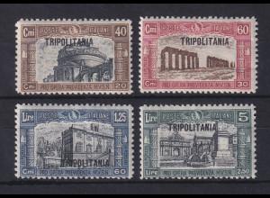 Italienisch-Tripolitanien 1927 Nationalmiliz Rom Mi.-Nr. 59-62 Satz 4 Werte *