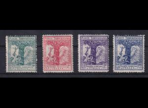 Italienisch-Tripolitanien 1928 Afrika-Gesellschaft Mi.-Nr. 72-75 Satz 4 Werte *