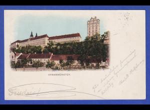 AK Österreich Kremsmünster gelaufen 1900