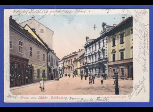 AK Österreich Gruß aus Mähr. Schönberg gelaufen um 1900