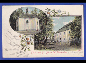 AK Österreich Gruß aus St. Anna bei Frauenthal gelaufen 1902
