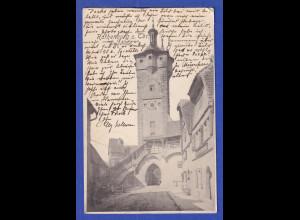 AK Bayern Rothenburg ob der Tauber Klingentor gelaufen 1905 nach Italien