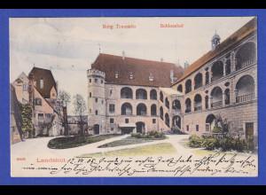 AK Bayern Landshut Burg Trausnitz Schlosshof gelaufen 1905 nach Metz