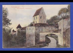 AK Bayern Landshut Burg Trausnitz Eingangstor gelaufen 1905 nach Magdeburg