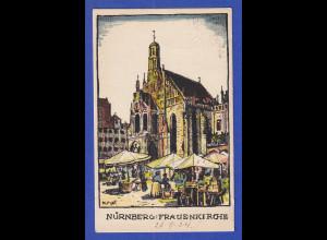 AK Bayern Nürnberg Frauenkirche um 1905 adress. (aber nicht gelaufen) n. Peking