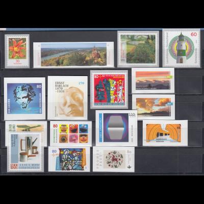 Bundesrepublik alle selbstklebenden Briefmarken des Jahrgangs 2020 komplett **