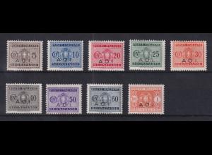 Italienisch-Ostafrika 1941 Portomarken Mi.-Nr. 1-9 Teilsatz postfrisch **