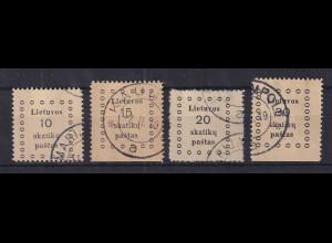 Lietuva / Litauen 1919 Ausgabe Kaunas Mi.-Nr. 9-12 Satz kpl. O