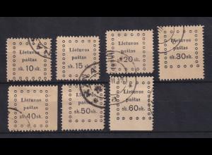 Lietuva / Litauen 1919 Ausgabe Kaunas Mi.-Nr. 20-26 Satz kpl. O