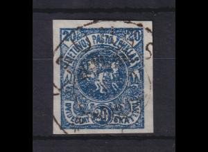 Lietuva / Litauen 1920 Freimarke Wappen Mi.-Nr. 63 X B gestempelt