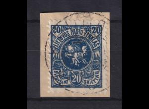 Lietuva / Litauen 1920 Freimarke Wappen Mi.-Nr. 63 Y A gestempelt