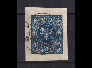 Lietuva / Litauen 1920 Freimarke Wappen Mi.-Nr. 63 Y B gestempelt
