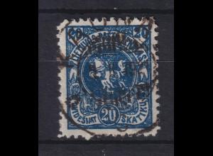 Lietuva / Litauen 1920 Freimarke Wappen Mi.-Nr. 63 X A gestempelt