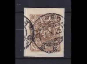 Lietuva / Litauen 1920 Freimarke Wappen Mi.-Nr. 64 X B gestempelt
