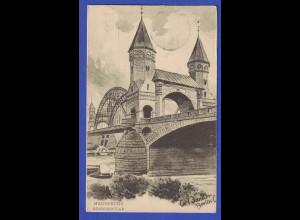 AK Magdeburg Elbe Königsbrücke Carl Zander gel 1907