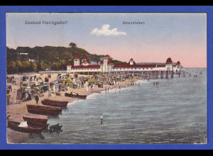 AK Seebad Heringsdorf Strandleben gelaufen 1922