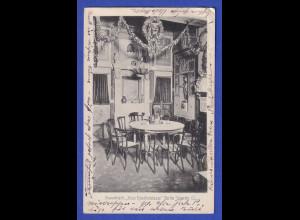 AK Berlin Stammtisch Neue Künstlerklause Jägerstr. 12 gelaufen 1913