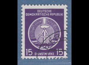 DDR Dienstmarke 15Pfg Mi.-Nr. 6xYI philatel. gest. gepr. König BPP