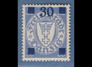 Danzig Wappen 30 auf 35 Pfg Mi.-Nr. 242 b ungebraucht * gepr. Gruber BPP
