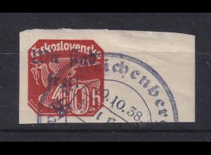 Dt. Besetzung 2.WK Sudetenland Reichenberg Mi.-Nr. 78 mit Sonder-O REICHENBERG