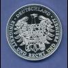 Papst Benedikt XVI. päpstliches Wappen, edle grosse Medaille teilweise vergoldet