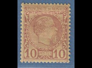 Monaco 1885 Freimarke Fürst Charles III. 10 C. Mi.-Nr. 4 ungebraucht *