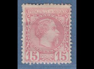 Monaco 1885 Freimarke Fürst Charles III. 15 C. Mi.-Nr. 5 ungebraucht *
