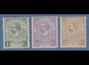Monaco 1911 Postauftragsmarken Mi.-Nr. 8-10 Satz kpl. ungebraucht *