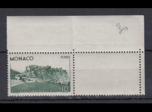 Monaco 1939 10Fr. Einweihung Stadion Mi.-Nr. 189 postfrisch ** aus Bogenecke