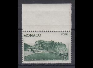 Monaco 1939 10Fr. Einweihung Stadion Mi.-Nr. 189 postfrisch ** mit Oberrand