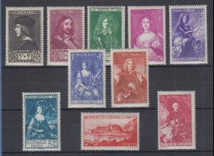 Monaco 1939 Bildnisse früherer Herrscher Mi.-Nr. 190-99 ungebraucht *