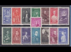 Monaco 1942 Bildnisse früherer Herrscher Mi-Nr. 273-87 Satz postfrisch **